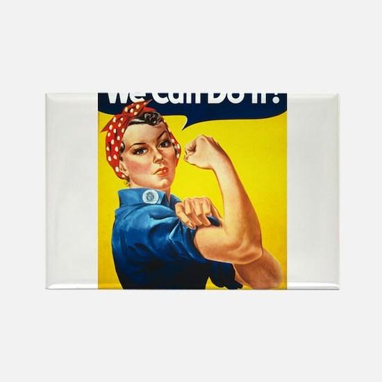 Rosie the Riveter Rectangle Magnet