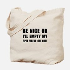 Empty My Spit Valve Tote Bag