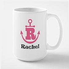 Custom Anchor Monogram R Mugs