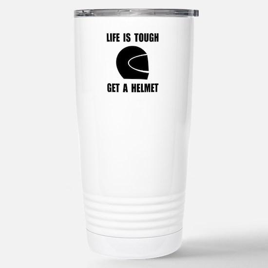 Life Tough Get Helmet Travel Mug