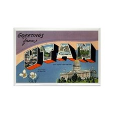 Greetings from Utah Rectangle Magnet