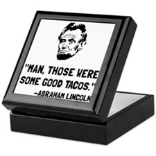 Lincoln Good Tacos Keepsake Box
