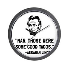 Lincoln Good Tacos Wall Clock