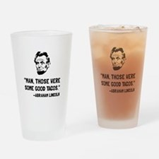 Lincoln Good Tacos Drinking Glass
