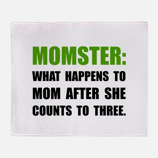 Momster Mom Throw Blanket