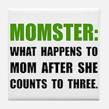 Momster Mom Tile Coaster