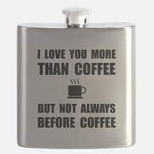 Not Before Coffee Flask