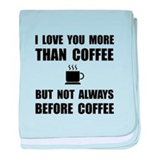 Not Before Coffee baby blanket