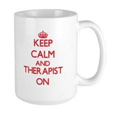 Keep Calm and Therapist ON Mugs