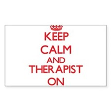 Keep Calm and Therapist ON Decal