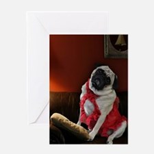 Sexy Pug Waiting for You Greeting Cards