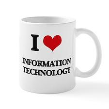 I Love Information Technology Mugs