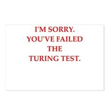 turing test Postcards (Package of 8)