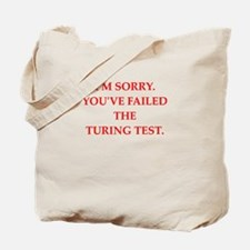 turing test Tote Bag