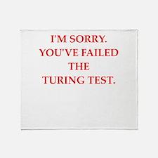 turing test Throw Blanket