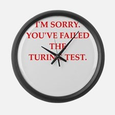 turing test Large Wall Clock