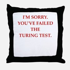 turing test Throw Pillow