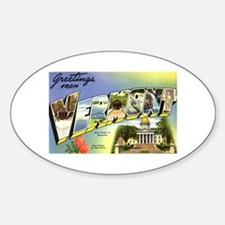 Greetings from Vermont Oval Decal