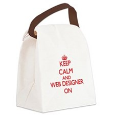 Keep Calm and Web Designer ON Canvas Lunch Bag