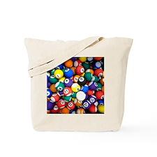 Pool Room Clock Tote Bag