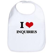 I Love Inquiries Bib