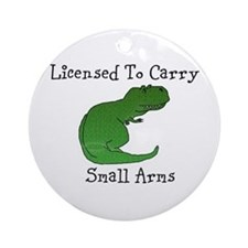 T-Rex - Licensed To Carry Small Ornament (round)