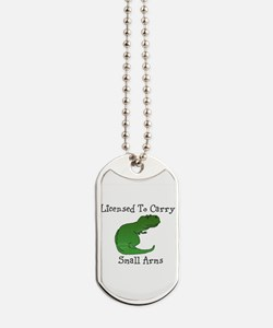 T-Rex - Licensed To Carry Small Arms Dog Tags