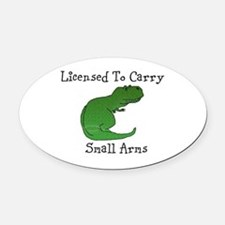 T-Rex - Licensed To Carry Small Oval Car Magnet