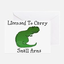 T-Rex - Licensed To Carry Small Greeting Cards