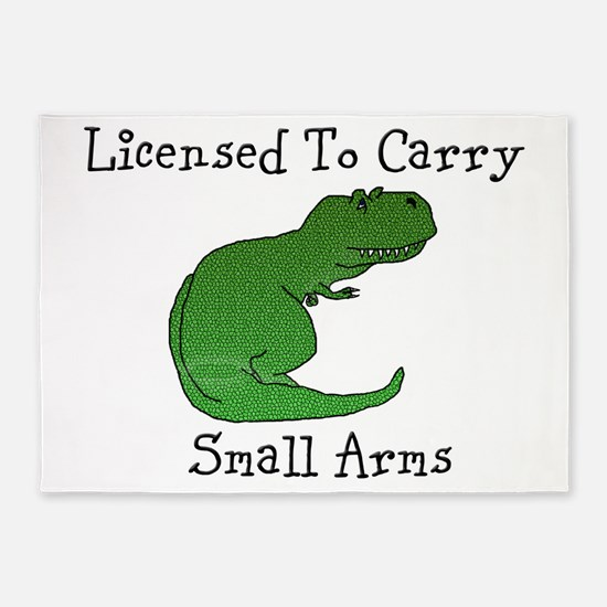 T-Rex - Licensed To Carry Small Arms 5'x7'Area Rug
