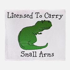 T-Rex - Licensed To Carry Small Arms Throw Blanket