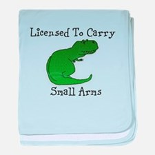 T-Rex - Licensed To Carry Small Arms baby blanket