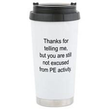 Phys ed Travel Mug