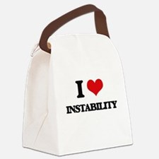 I Love Instability Canvas Lunch Bag
