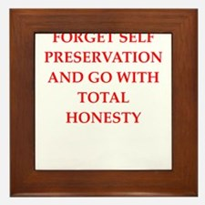 honesty Framed Tile