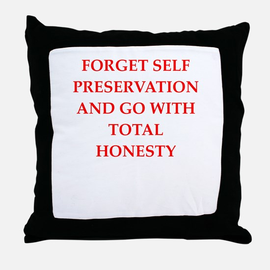 honesty Throw Pillow
