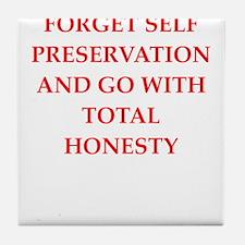 honesty Tile Coaster