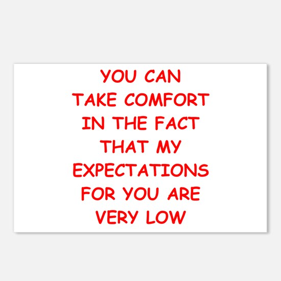 low expectations Postcards (Package of 8)