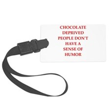 chocolate Luggage Tag