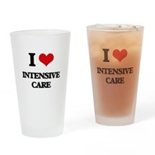 I Love Intensive Care Drinking Glass