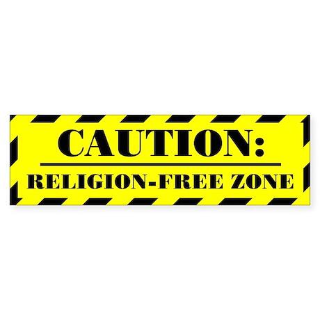 """""""Religion-Free Zone"""" Bumpersticker"""