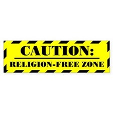 """Religion-Free Zone"" Bumpersticker"