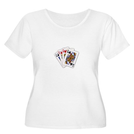 Cool Card Trick Women's Plus Size Scoop Neck T-Shi