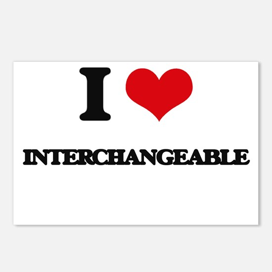 I Love Interchangeable Postcards (Package of 8)