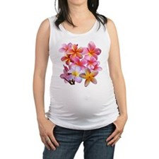 Pink Plumerias Maternity Tank Top