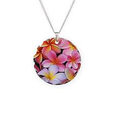 Pink Plumerias Necklace