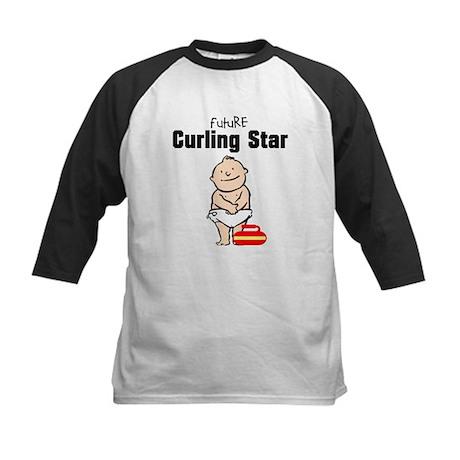 Future Curling Star Kids Baseball Jersey