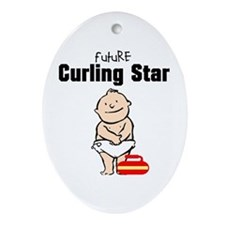Future Curling Star Ceramic Ornament