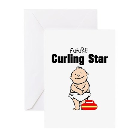 Future Curling Star Baby Cards (Pk of 10)