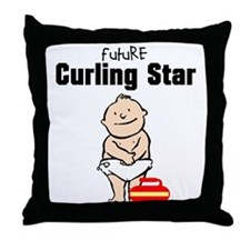 Future Curling Star Throw Pillow